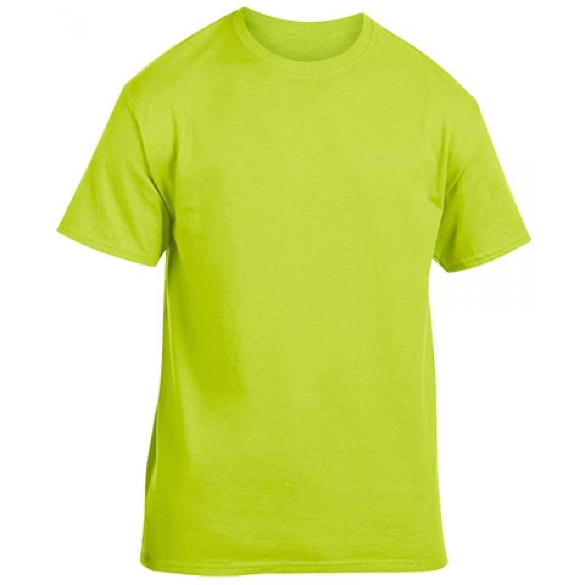 Cotton Short Sleeve T-Shirt-Safety Green-YS