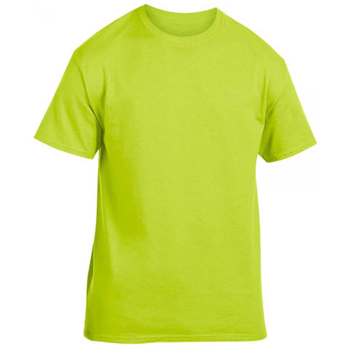 Cotton Short Sleeve T-Shirt-Safety Green-3XL