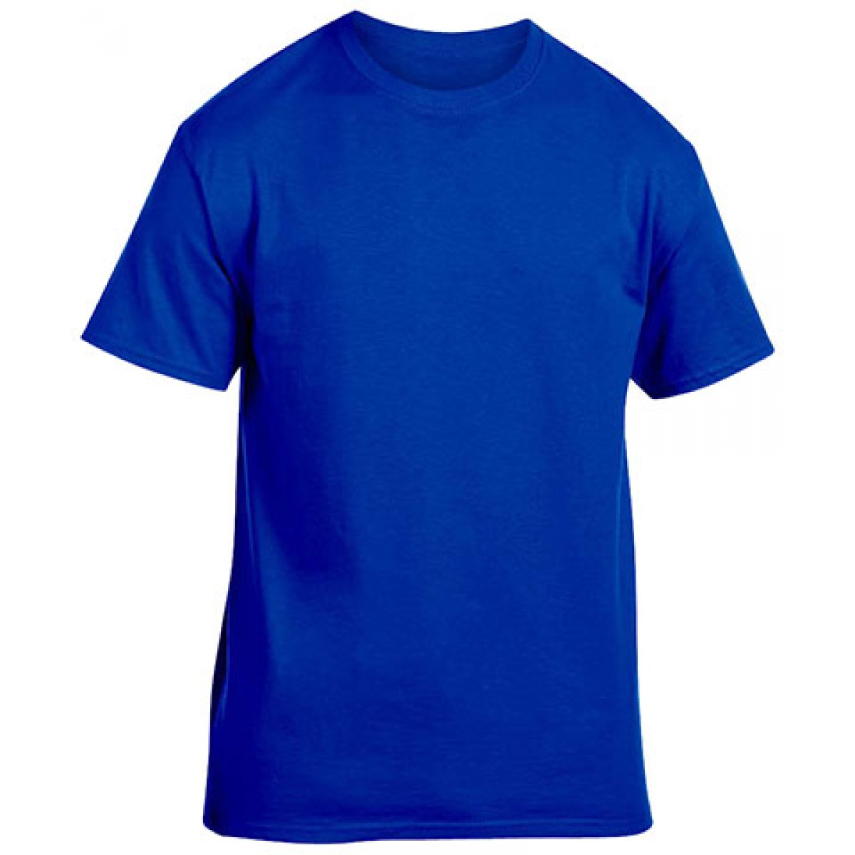 Cotton Short Sleeve T-Shirt-Royal Blue-L