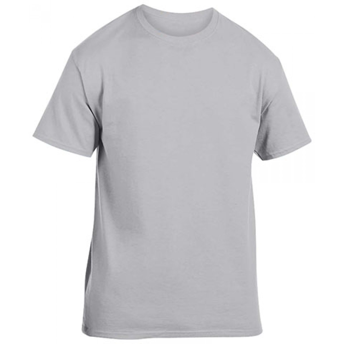 Cotton Short Sleeve T-Shirt-Gray-YL