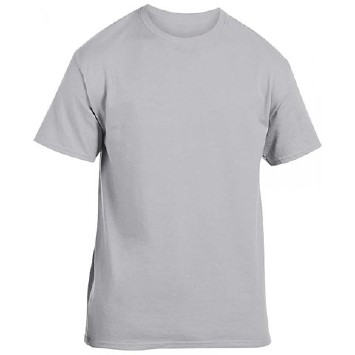 Cotton Short Sleeve T-Shirt Gray -YS