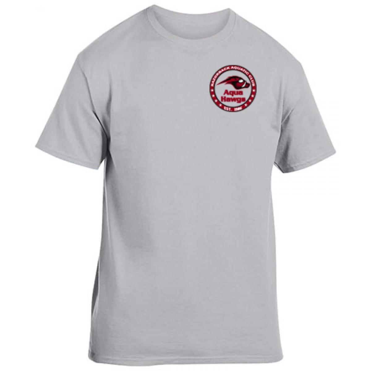 Cotton Short Sleeve T-Shirt Gray-Gray -XL