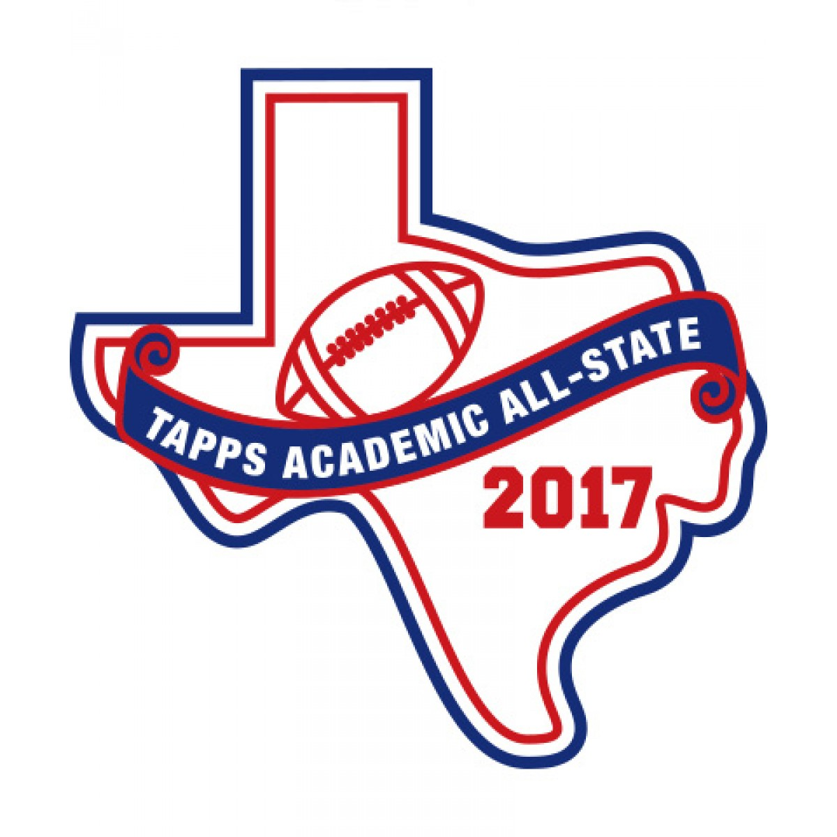 Felt 2017 TAPPS Academic All-State Football Patch