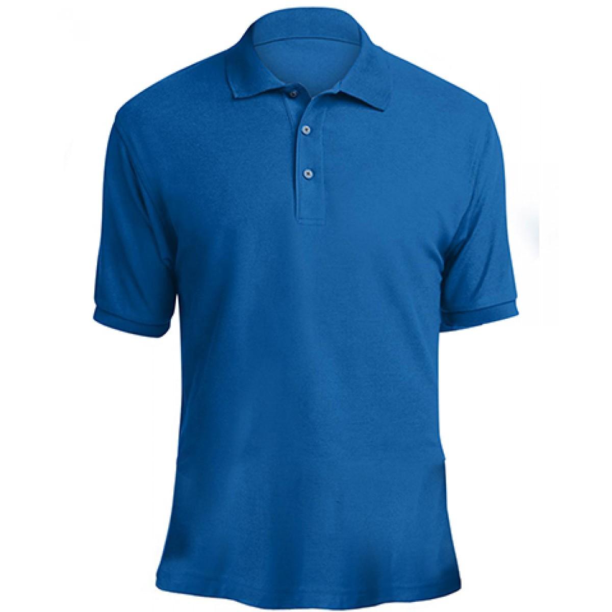 Mens Classic Polo-Blue-L