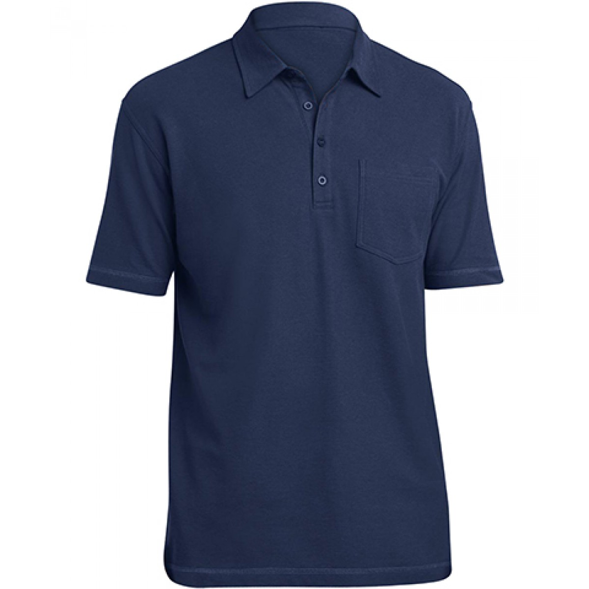 Modern Style Pocket Polo-Royal Blue-M