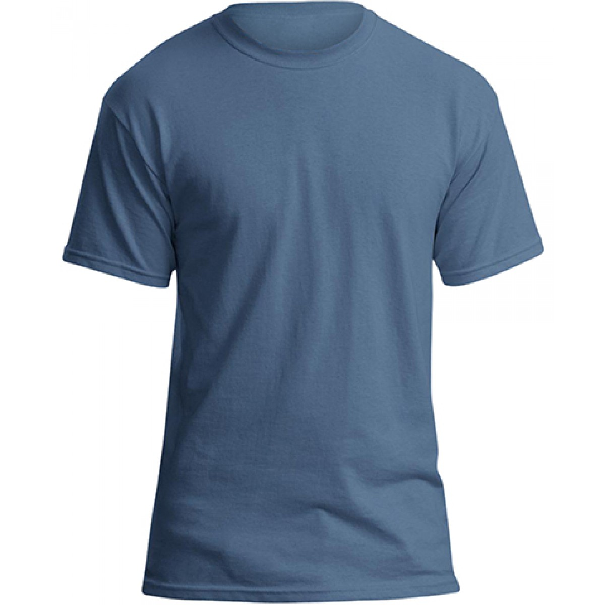 Soft 100% Cotton T-Shirt-Indigo Blue-L