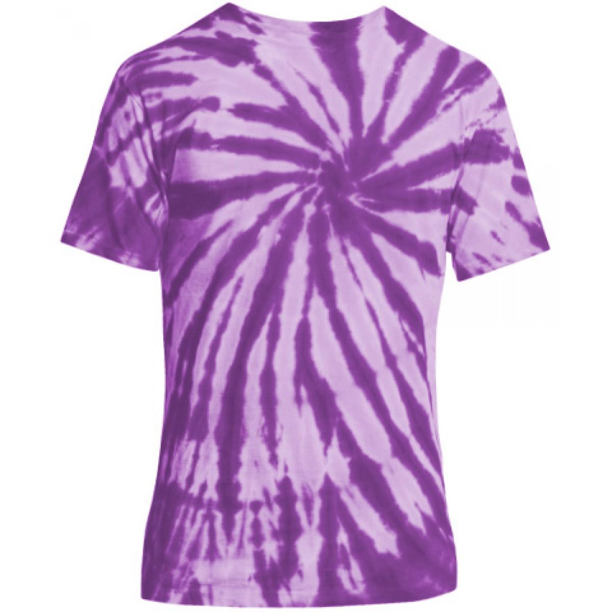 Essential Tie-Dye Tee-Purple-L