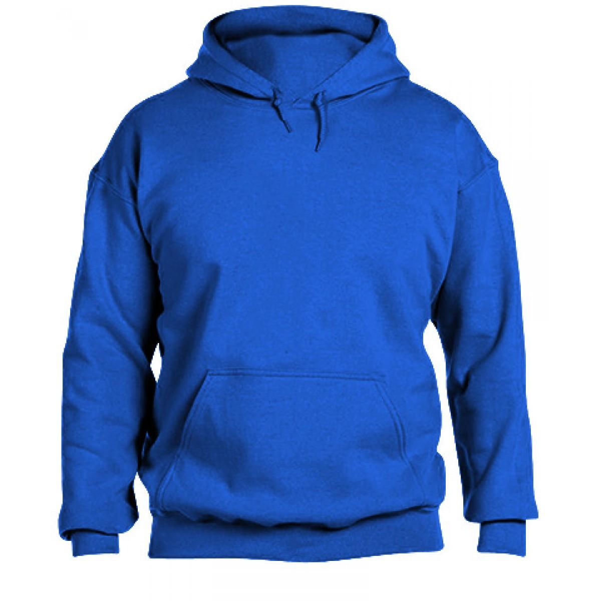 Hooded Sweatshirt  50/50 Heavy Blend-Royal Blue-L