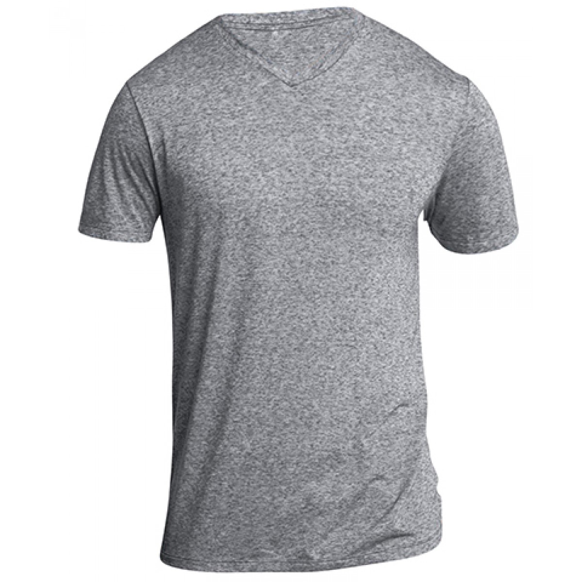 Mens Microburn V-Neck Tee-Athletic Heather-L