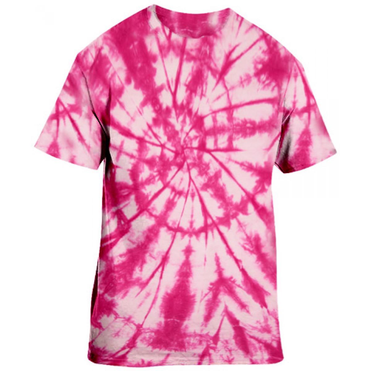 Pink Tie-Dye S/S Tee -Pink-YL
