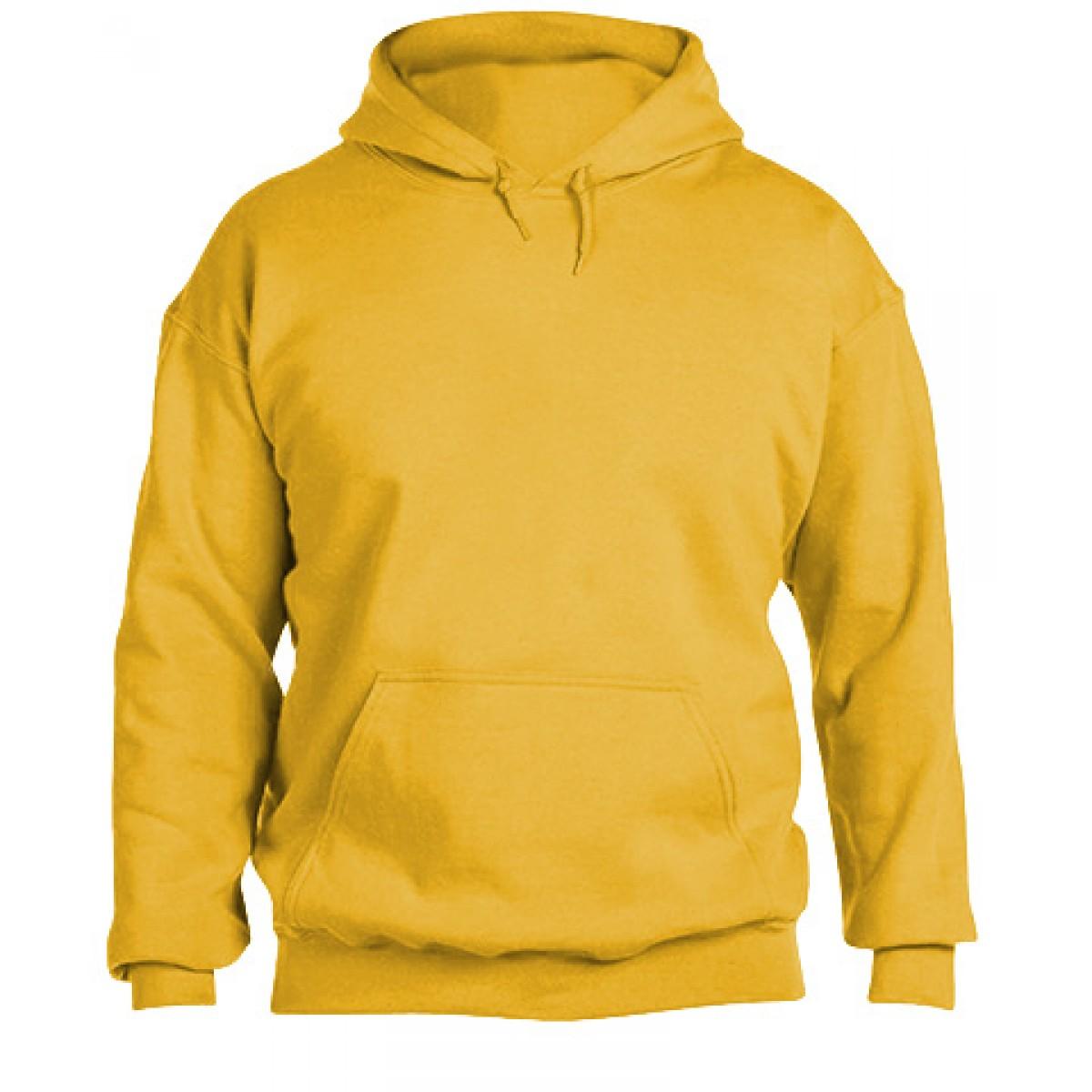 Hooded Sweatshirt 50/50 Heavy Blend -Gold-S