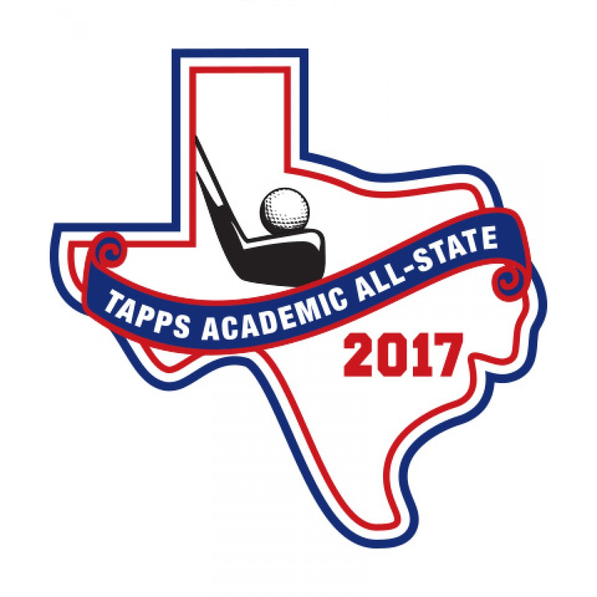 Felt 2017 TAPPS Academic All-State Golf Patch
