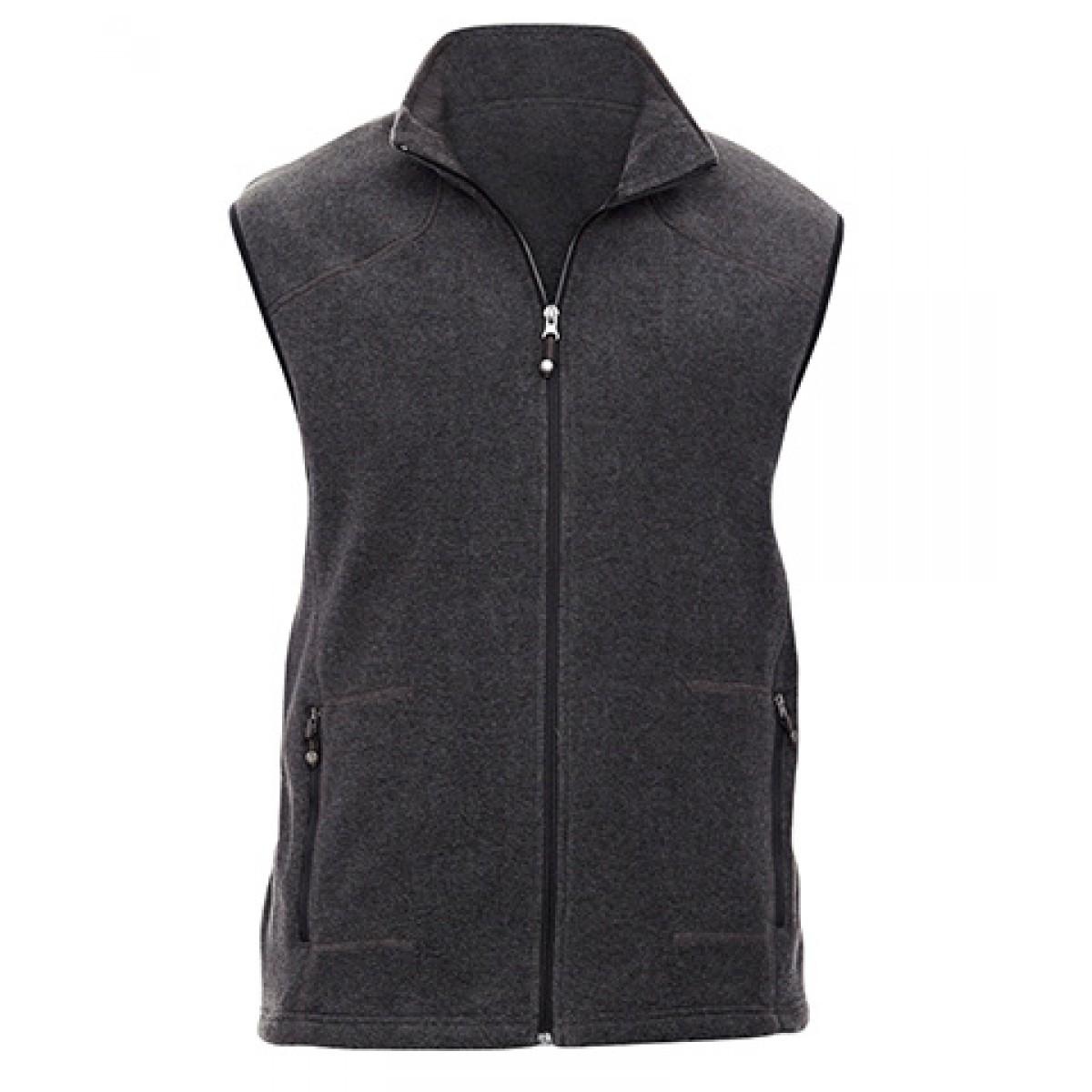 Men's Voyage Fleece Vest-Gray -5XL