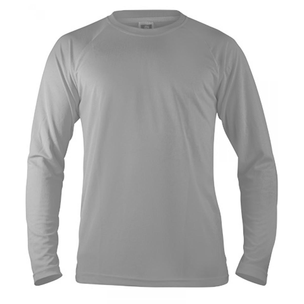 Long Sleeve Performance -Gray -XL