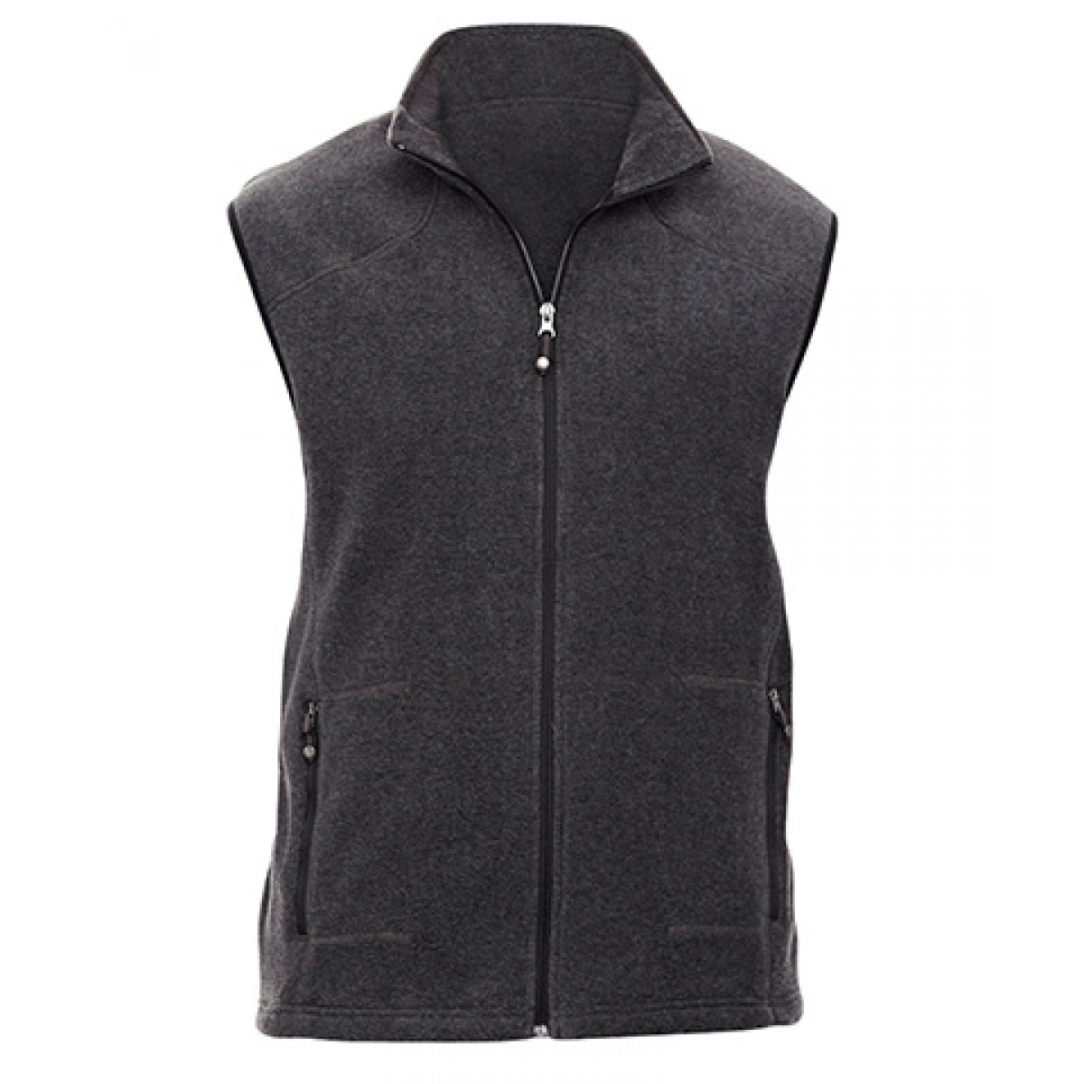Men's Voyage Fleece Vest-Gray -4XL