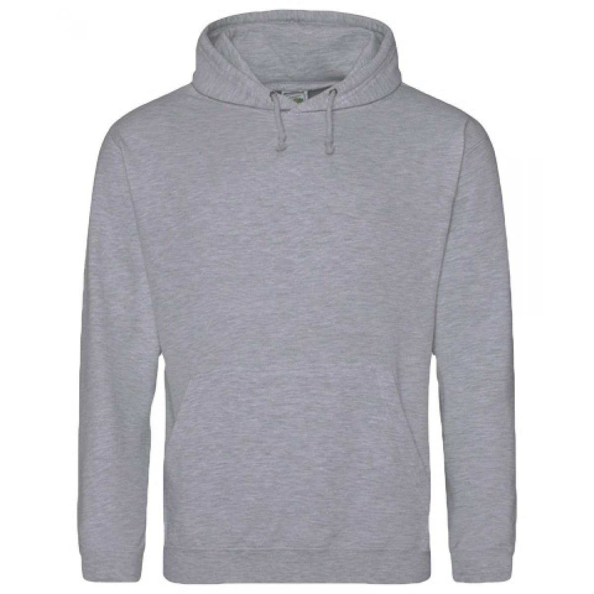 Hooded Sweatshirt 50/50 Heavy Blend-Gray-M