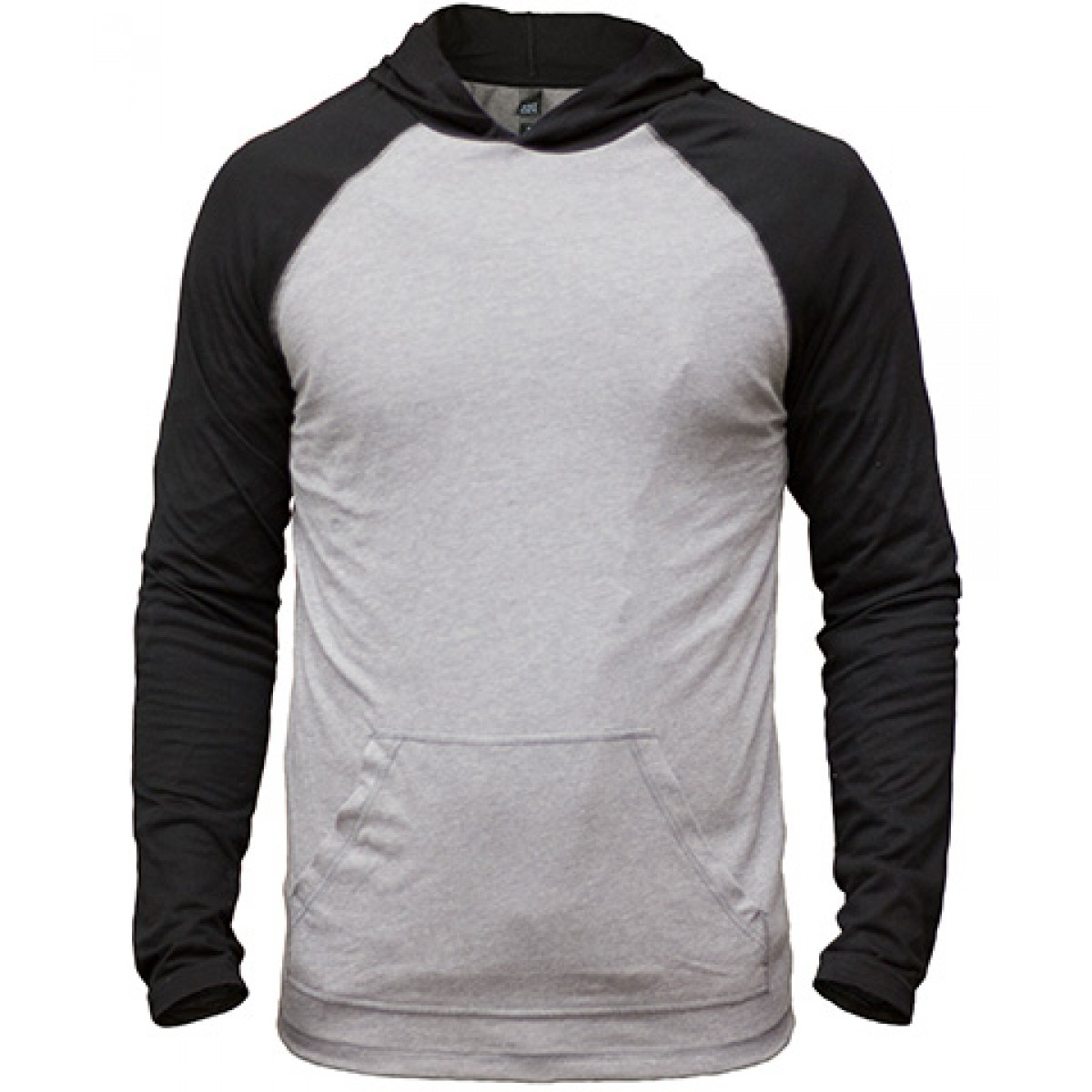 50/50 Raglan Hoodie-Gray/Black-3XL