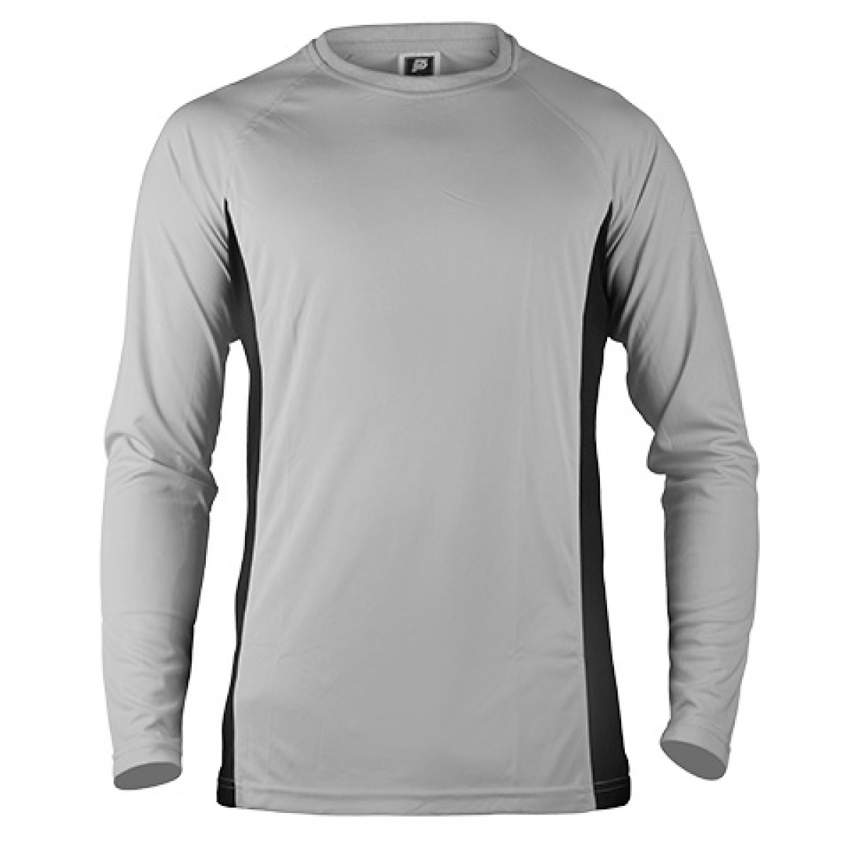 Long Sleeves Performance With Side Insert-Gray/Black-2XL
