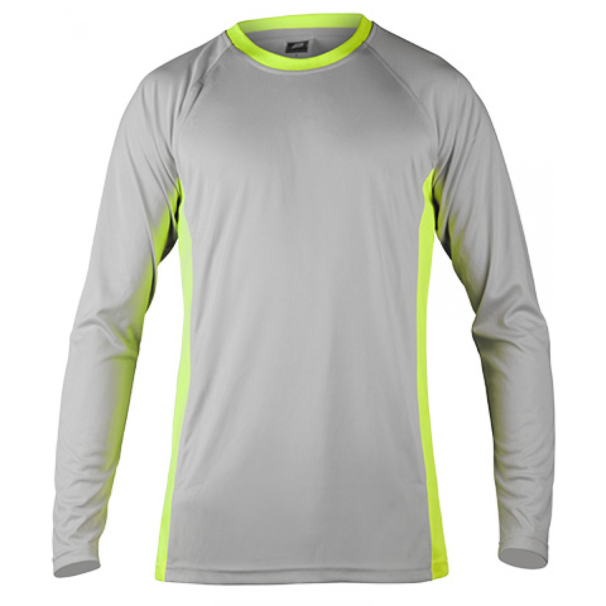 Long Sleeves Performance With Side Insert-Gray/Green-2XL