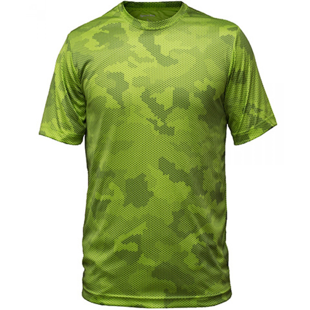 Sport-Tek CamoHex Tee-Green-M