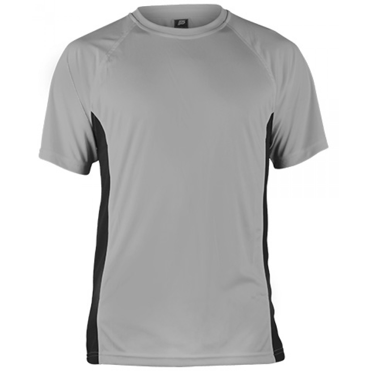 Short Sleeves Performance With Side Insert-Gray/Black-YL