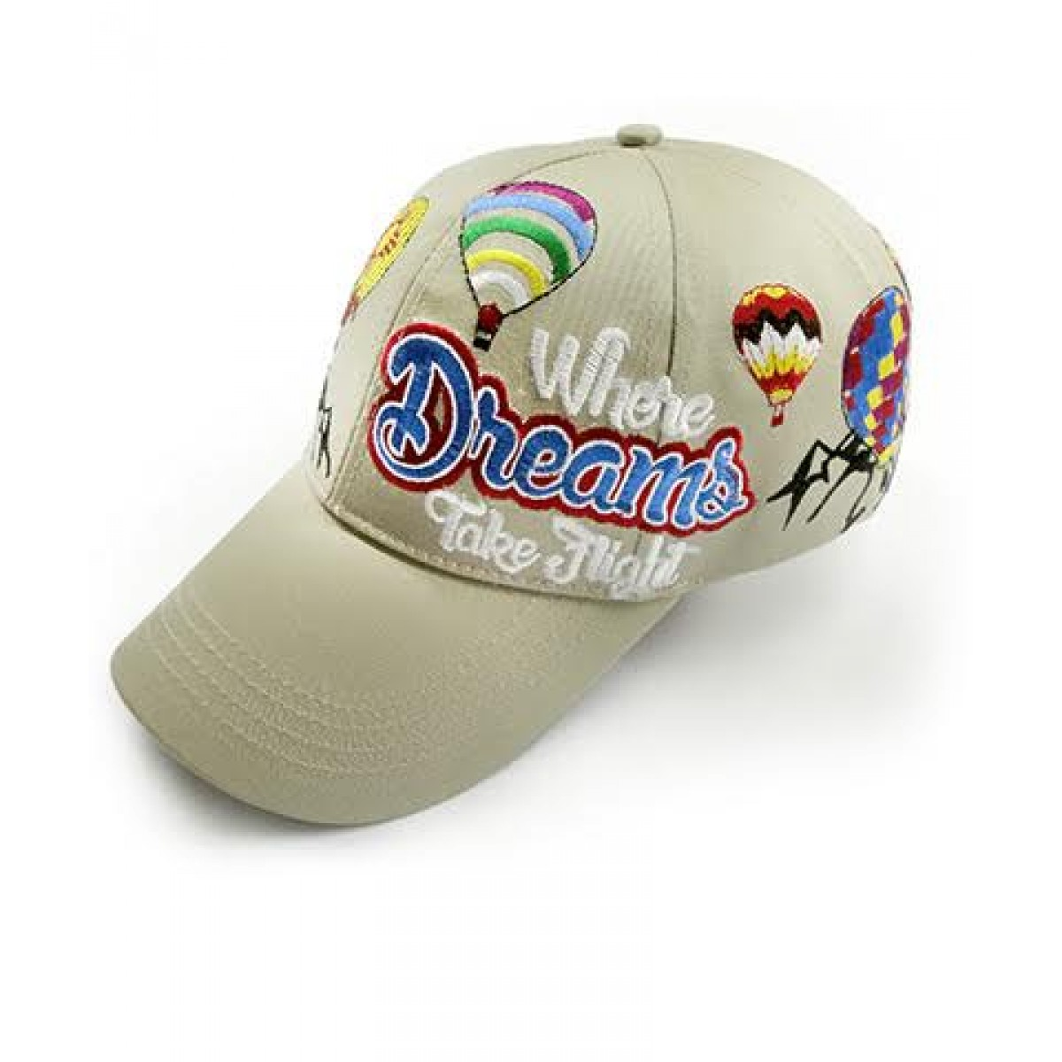 AIBF Embroidered Beige Cap -Beige -OS