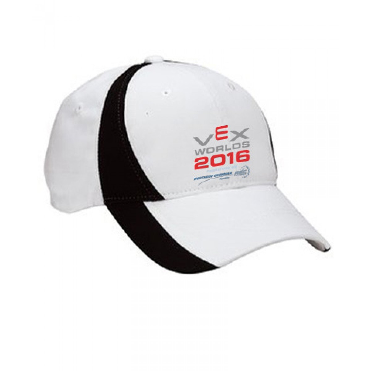 Embroidered 8-Panel Cap-White