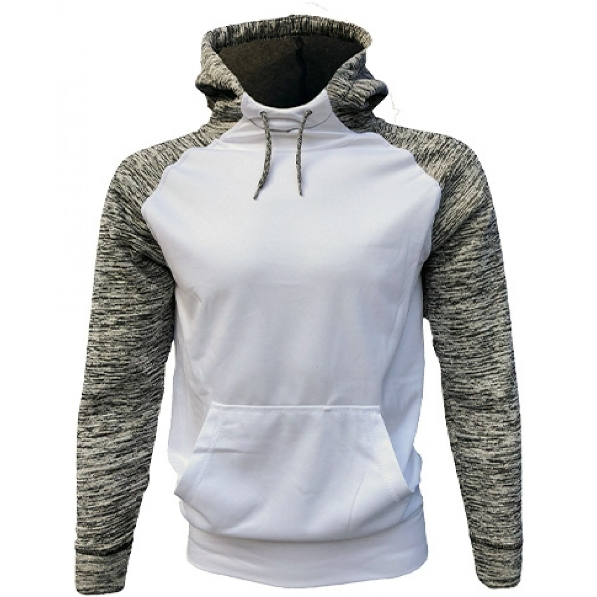 White/Gray Performance Hoodie