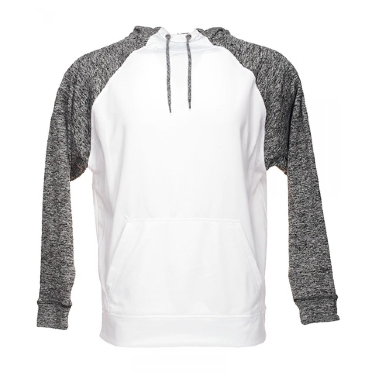 J America Cosmic Hooded Sweatshirt-White/Black-3XL