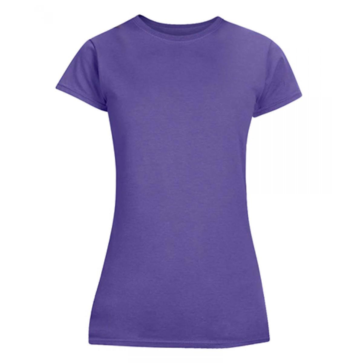 Junior Fit T-Shirt-Purple-2XL