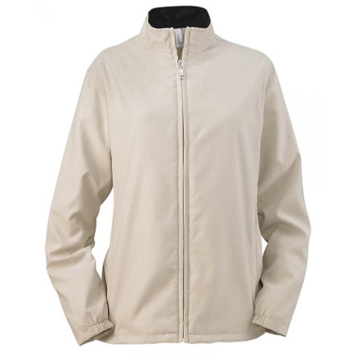 Ladies' Full-Zip Lined Wind Jacket-L