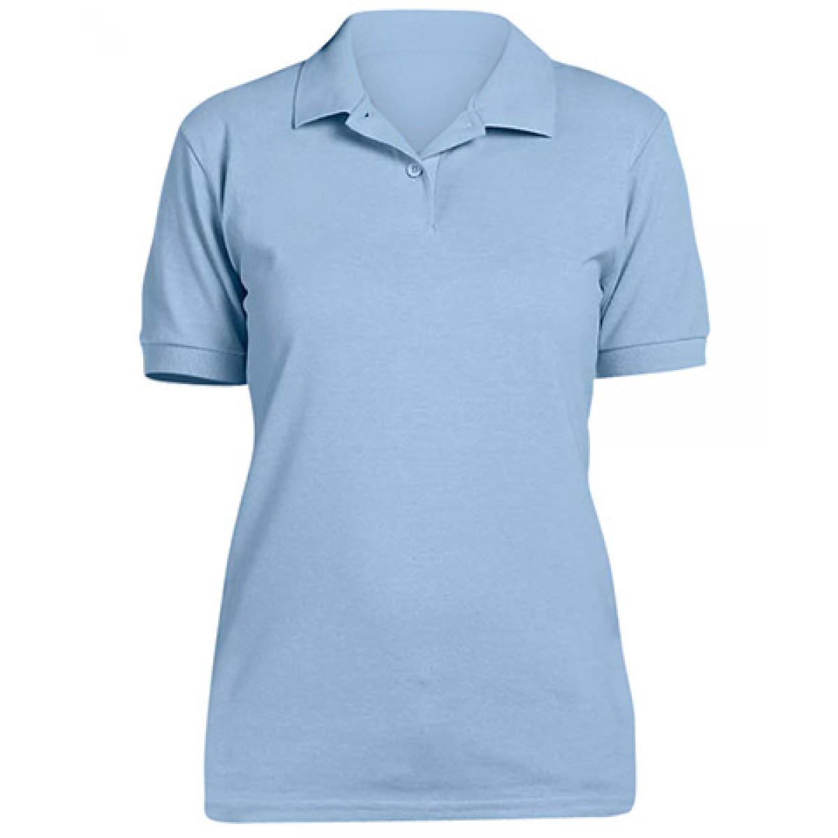 Ladies' 6.5 oz. Piqué Sport Shirt-Blue-S