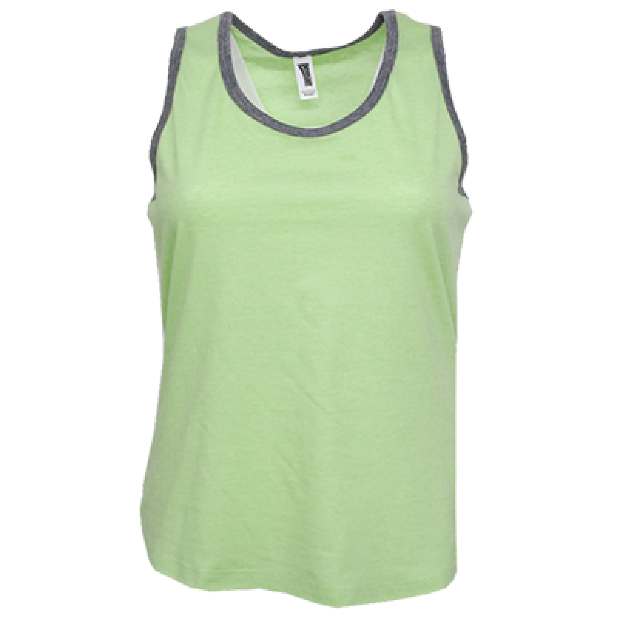 Ladies Racerback Tank Top-Heather/Lime-YS