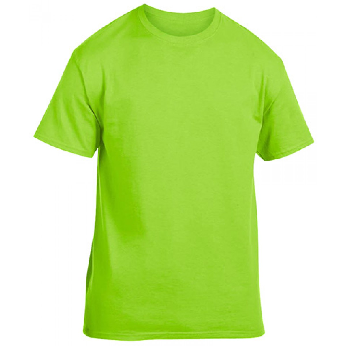 Soft 100% Cotton T-Shirt-Lime Green-M