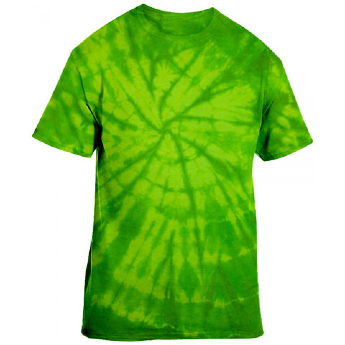 Essential Tie-Dye Tee-Lime Green