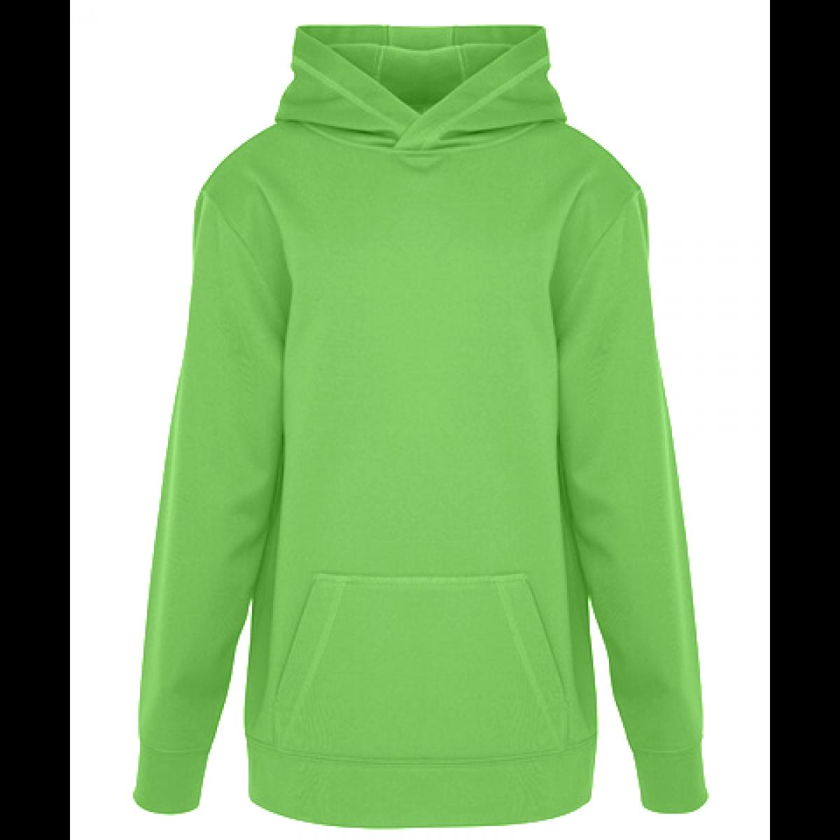 Game Day Fleece Hooded Ladies Sweatshirt-Lime Green-2XL