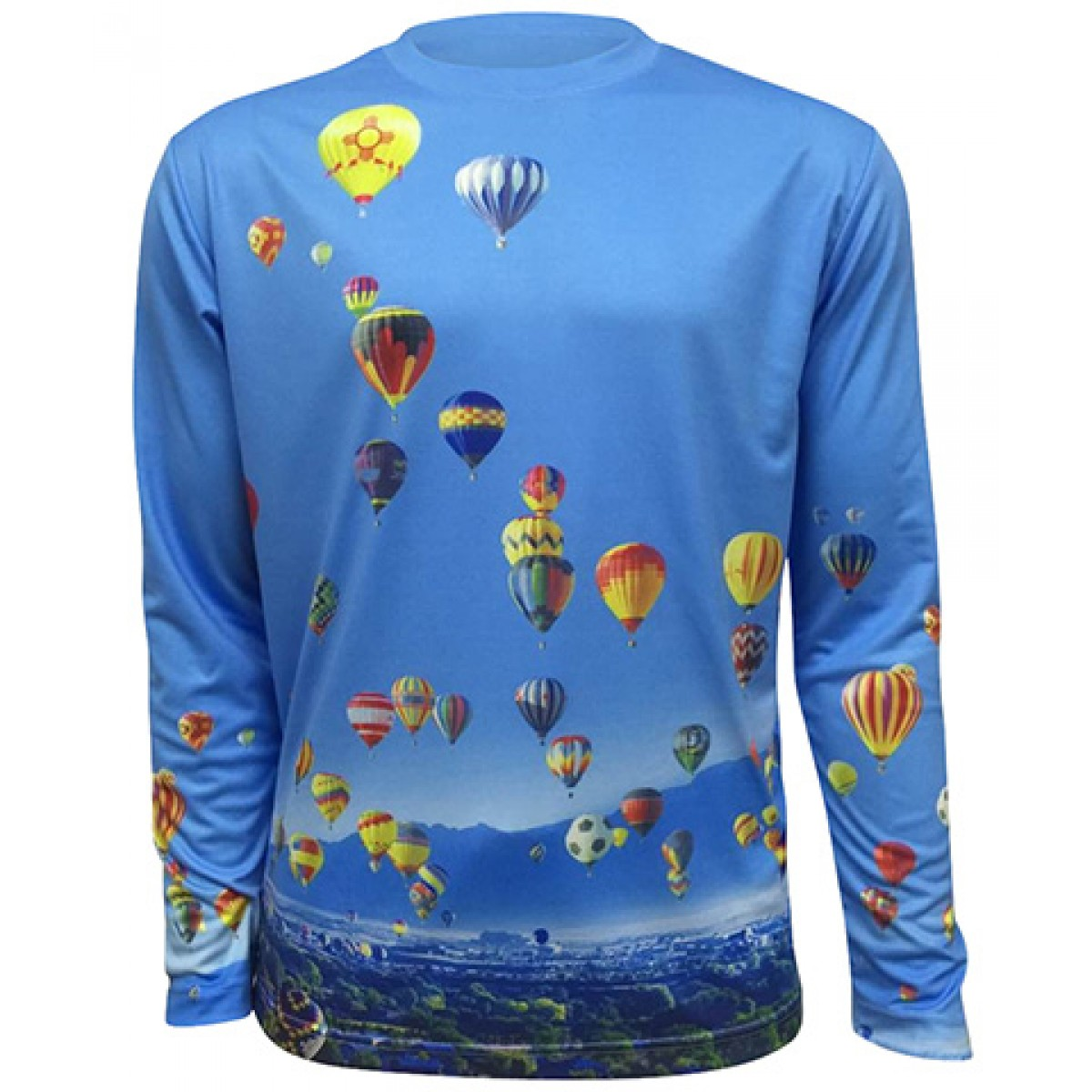 AIBF Sublimated Long Sleeve-Blue-M
