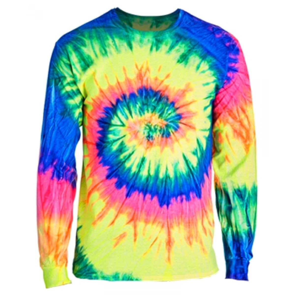 Long Sleeve Tie-Dye T-Shirts-Multi -YL