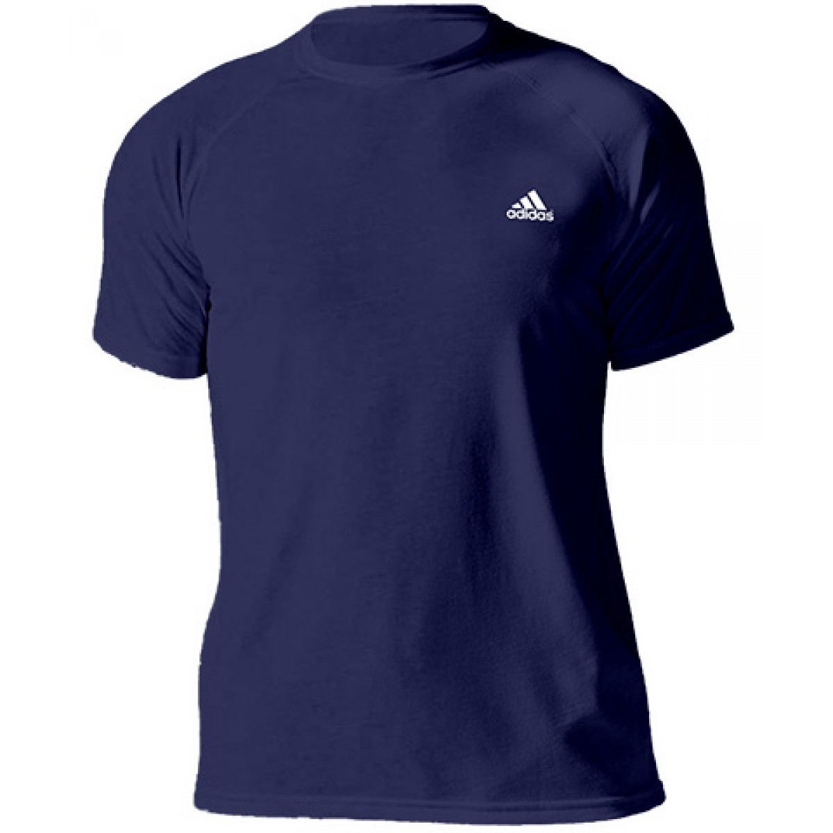 Adidas Embroidered Logo Essential Crew Neck T-shirt-Navy-M