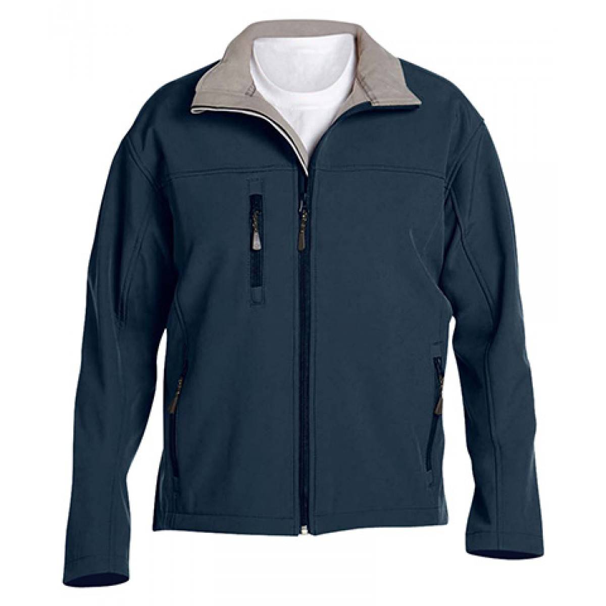 Men's Soft Shell Jacket-Navy-4XL