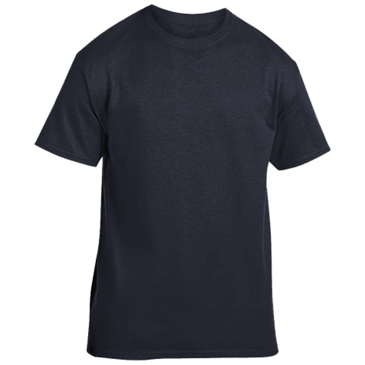 Soft 100% Cotton T-Shirt-Heather Navy-S