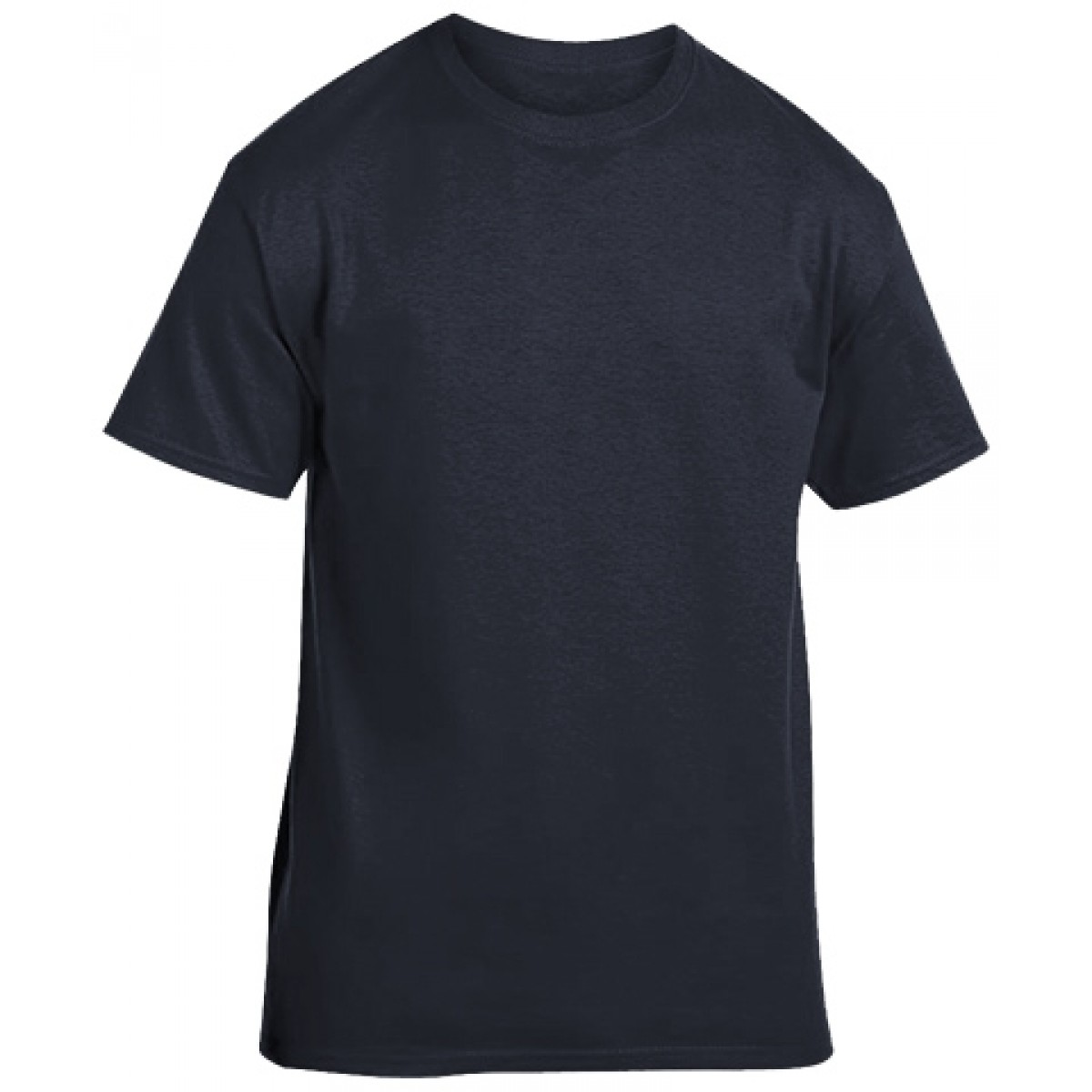 Soft 100% Cotton T-Shirt-Heather Navy-M