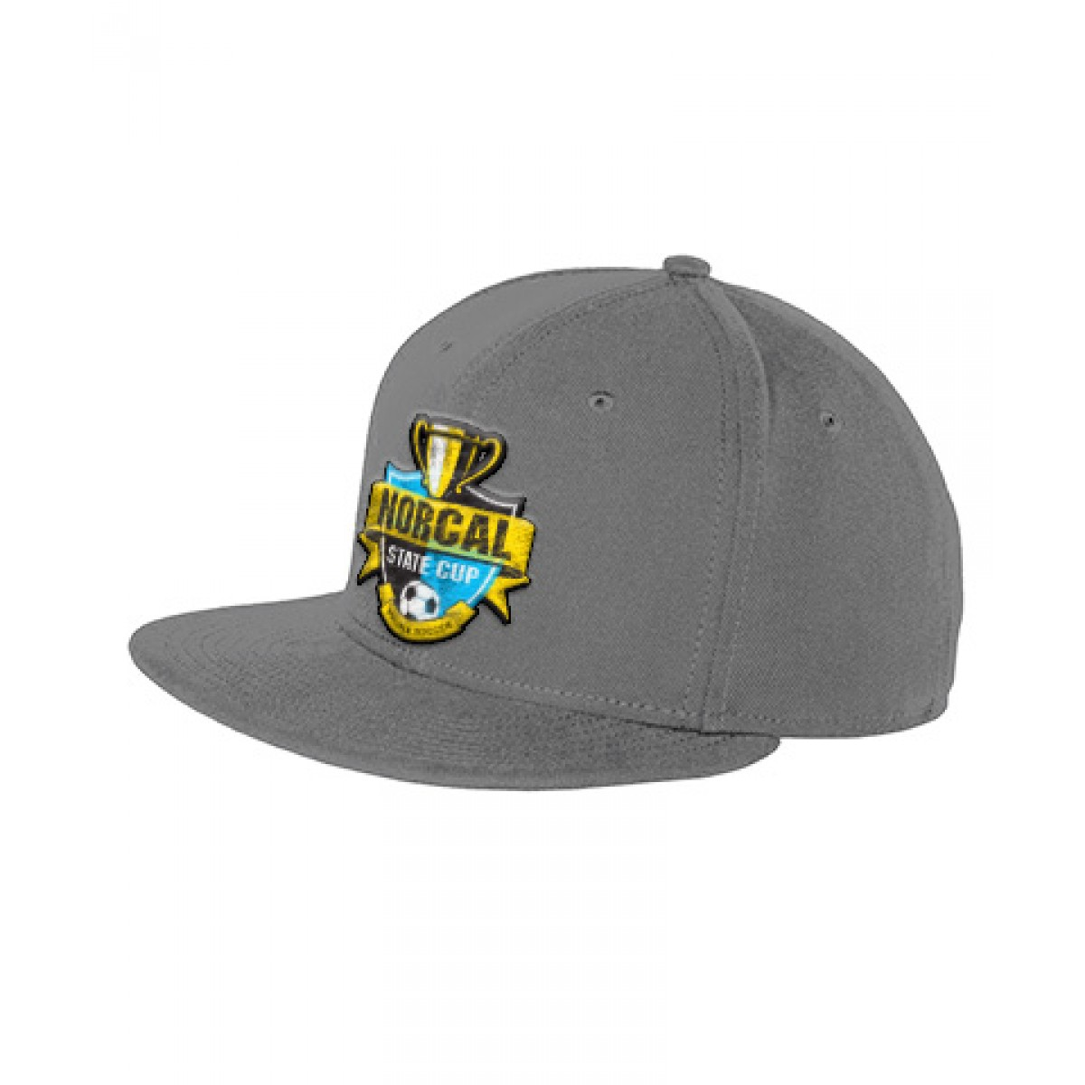 Embroidered New Era Original Fit Flat Bill Snapback Cap-Gray