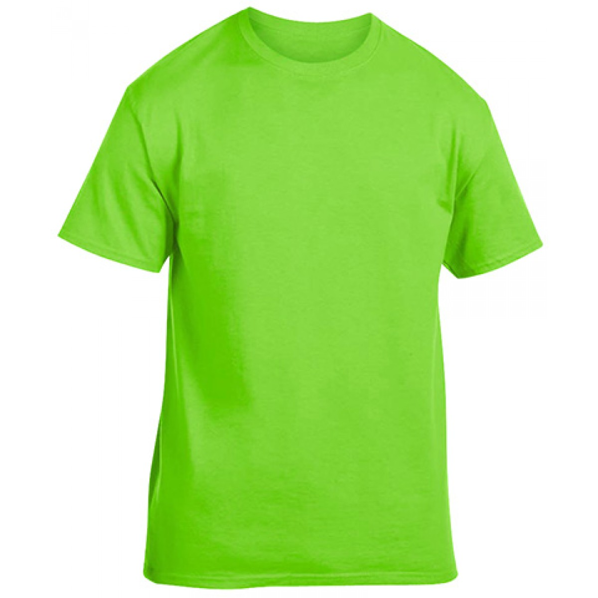Soft 100% Cotton T-Shirt-Neon Green-M