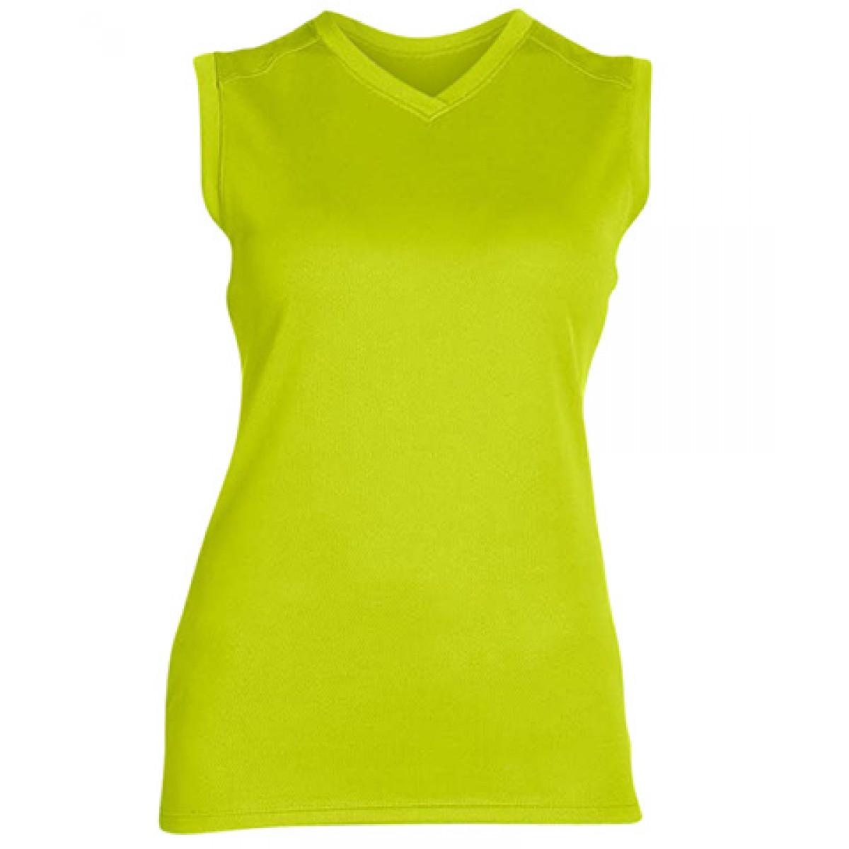 Ladies' Athletic V-Neck Workout T-Shirt