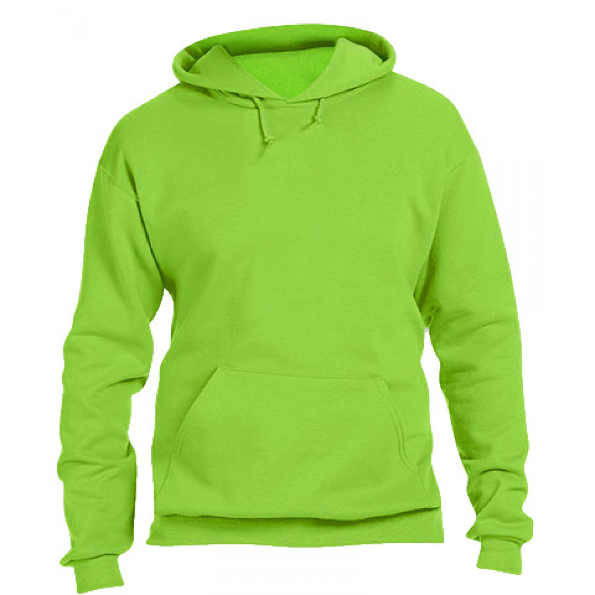 Hooded Sweatshirt 50/50 Heavy Blend -Neon Green-XL