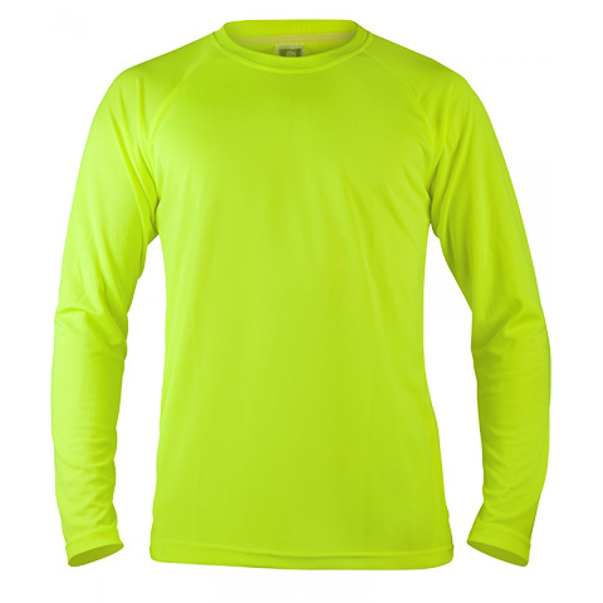 Long Sleeve Mesh Performance T-shirt-Neon Green-2XL