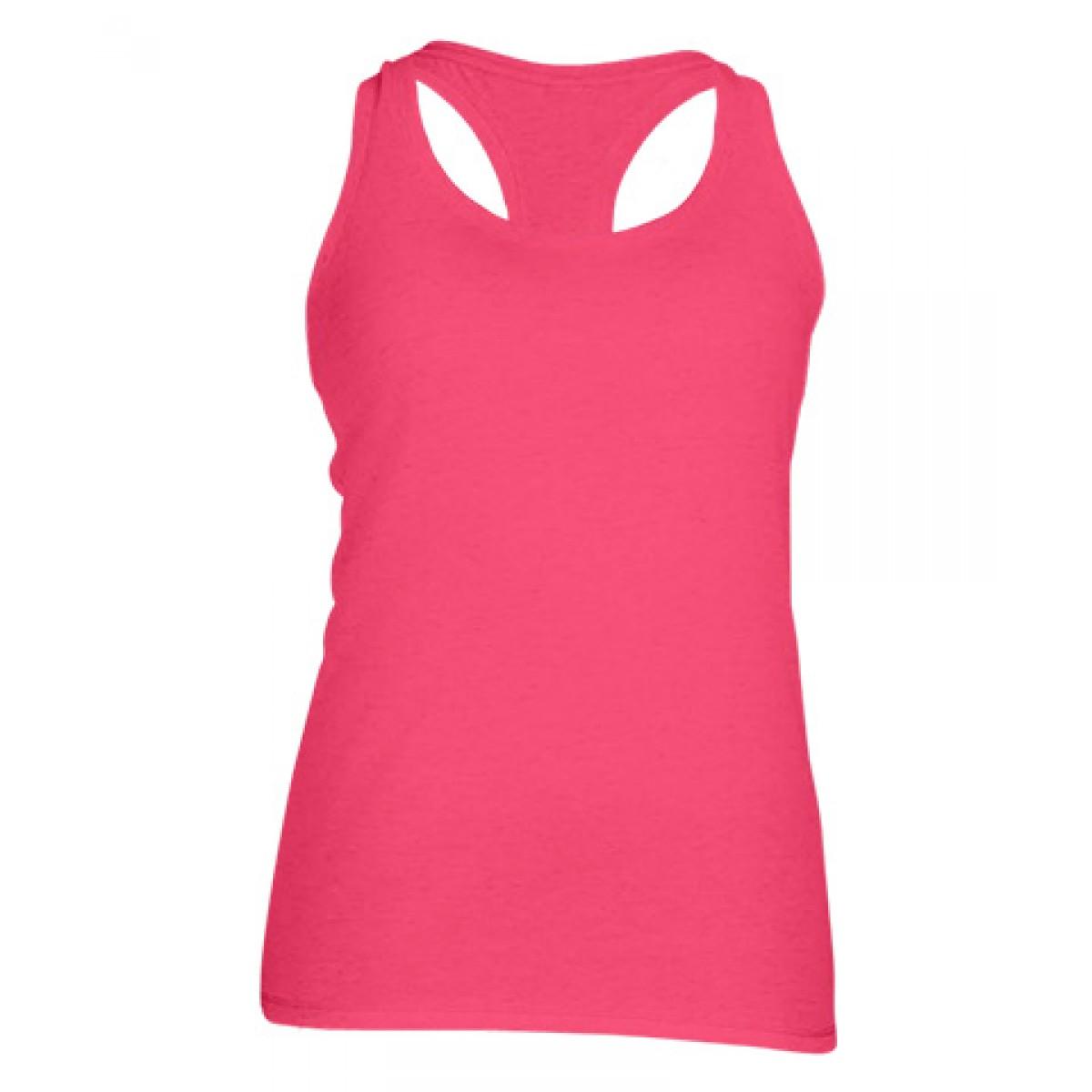 Ladies' Performance Racerback Tank-Safety Pink-XS