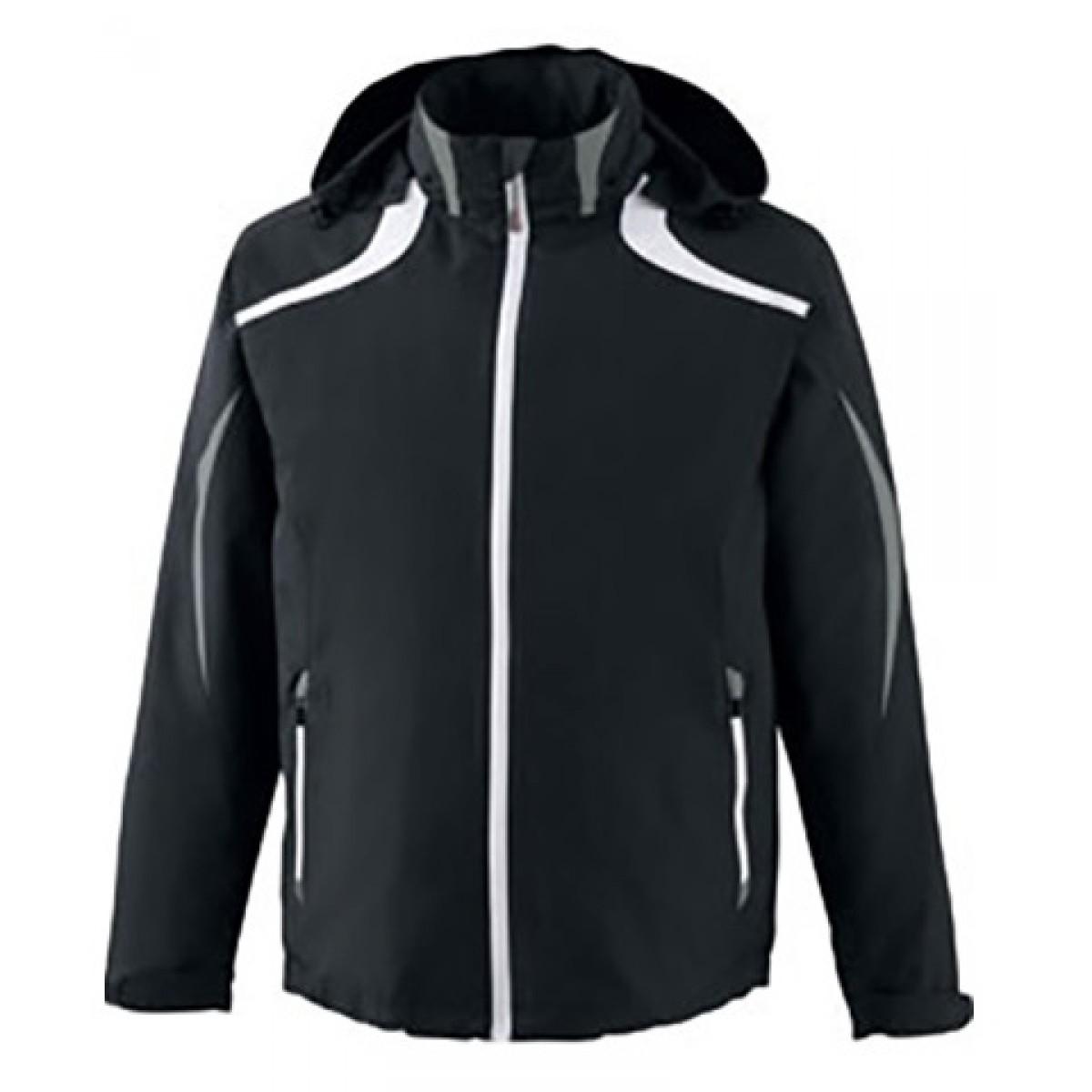 North End Men's Impact Active Lite Colorblock Jacket-Black-M