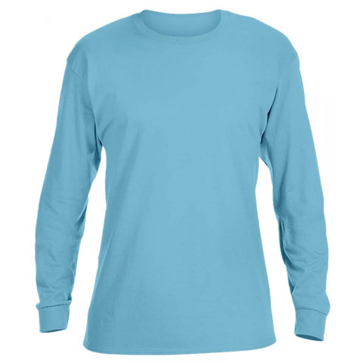 Ultra Cotton Long-Sleeve T-Shirt-Sky Blue-2XL